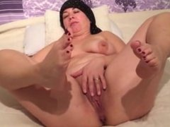 Horny wife Jerking off for her hubby