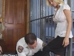 Rookie Male Cop searches arrested Girl from head to toe