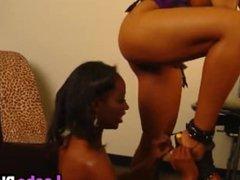 Stunning Ebony Babes Enjoys Hardcore Lesbian Action