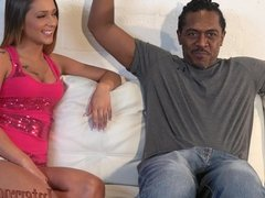 4K cute Southern girl barely fucks biggest black cock!