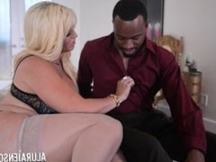 Big Boob Alura Jenson Makes Booty Call On Jonvan Jordan's Big Black Cock