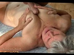 Silver haired gran likes it doggystyle