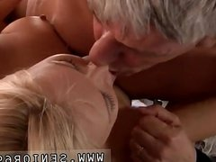 Mature old homemade and old kissing first