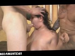 Big Titty Brunette April Dawn Getting Face Destroyed