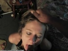 amateur slut sucking big black cock