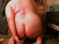 Self Fucking Her Gaping Whore Ass