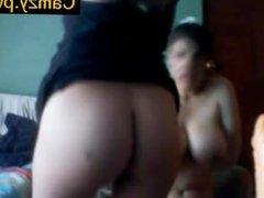 Camzy.PW - Webcams 2014 - Nerdy MILF w BIG TITS & Dildo