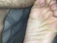 Dirty feet and tight asshole