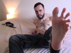Jeans Jerk Off Self Suck Foot Fetish Cum