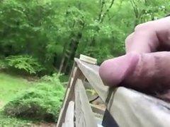 Man pissing in public