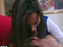 Eighteen year old Ashley Adams takes hard pounding