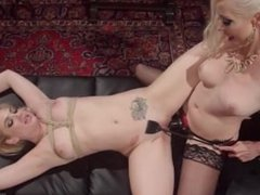 Lesbian fuck doll bound, spanked and anally fisted!