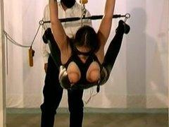 bondage with latex girl