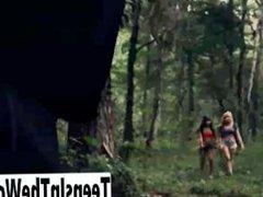Wet Teens In The Woods