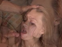 Amateur takes 10 loads in her mouth