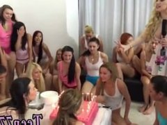 Blowjob while driving 40 damsels came over to party and celebrate