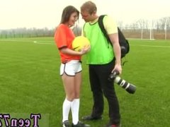 Retro german lesbian teen Dutch football player porked by photographer