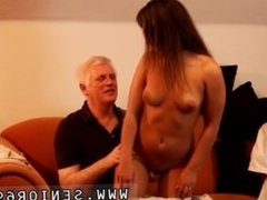 Old dick young pussy and teen sex with old man Latoya makes clothes, but