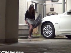 Japanese girls cannot hold pee in public