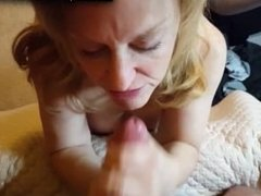 Dirty As Fuck Granny Takes A Facial