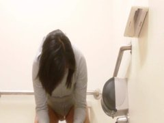 Hidden cam - college asian hottie in the bathroom
