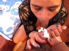 Kriss blowjobs with cream (part 2 of 2)