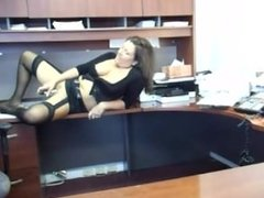 Hot milf playing at work part 2