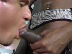 Double penetrated by a man and a shemale