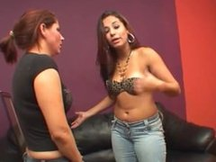 Lesbian Slavegirl is slapped and worships boots
