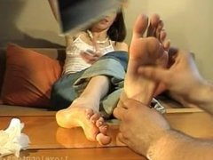 Katherina's Foot Massage (close-up toes)