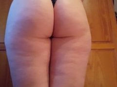 Hot girl with big ass does a Wedgie
