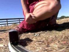 Giantess Small Town Railroad Destruction