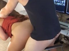 Mom Surprise Son Alone and let Him Fuck her from Behind after Lovely Suck