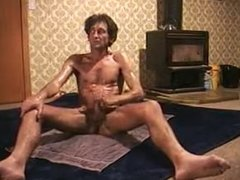 Wanking with oil and cums