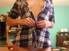 Teen Girl Strips for the Camera