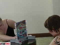 bbw girls play strip game with losser getting her head shaved