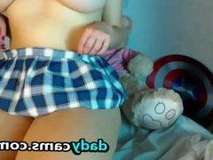 Big Tit Chubby Redhead Masturbating