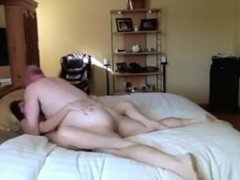 Granpa gets Lucky In Bed Room