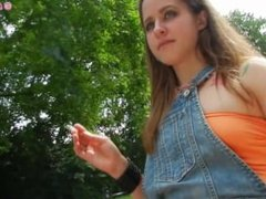 Exhibitionist Smoking Cigarettes & Showing Off In Public