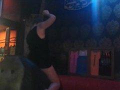 Big tittied Hot girls panties rip on mechanical bull