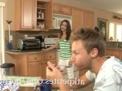 Fucking The Cute Girlfriend In The Kitchen