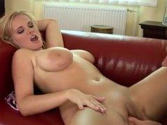 blonde big nipples softly token between tits