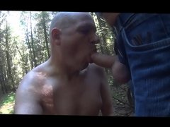 sucking a stranger in the woods
