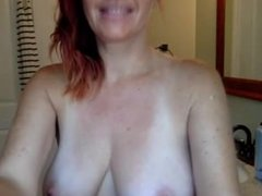 Mature redhead has great tits