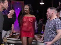 Ebony Skyler Nicole enjoys Anal Sex and Gangbang