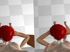 VR 3d Blowjob - Virtual Reality POV animated Sex