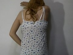 Zenai lori crossdresser blue cat panties