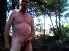 Wanking in the park