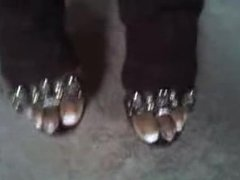 ebony french toenails and plats