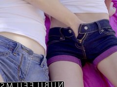 Cheating wife has first time lesbian orgasm